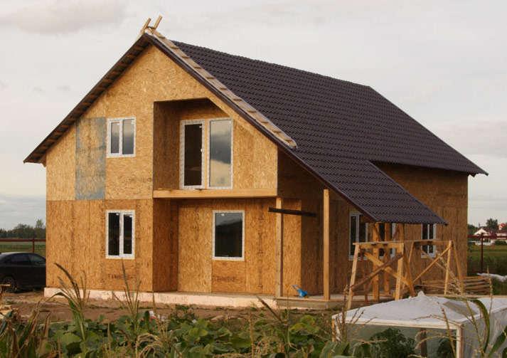 Результат каркасного строительства дома своими руками