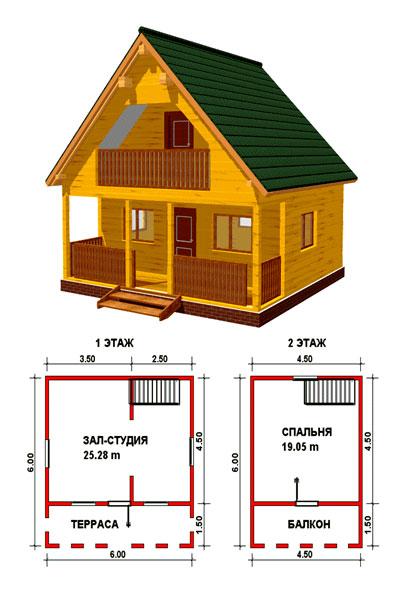 Проект дома из бруса 150х150