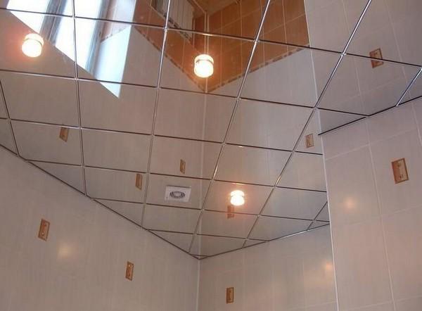 зеркальная плитка в интерьере фото