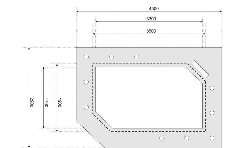 Чертеж двухуровнего потолка из гипсокартона
