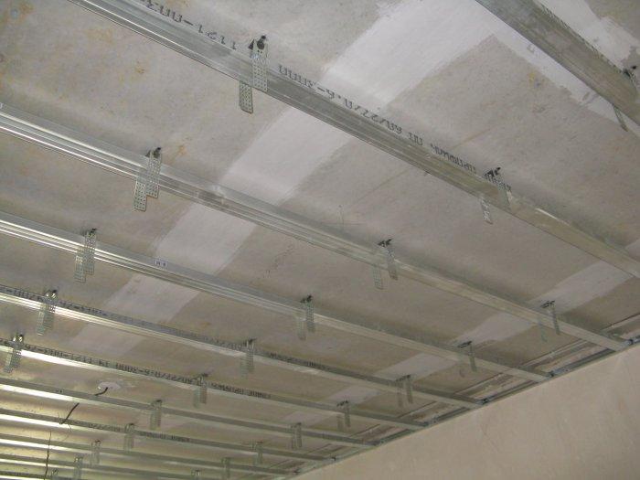 Каркас двухуровнего потолка из гипсокартона своими руками