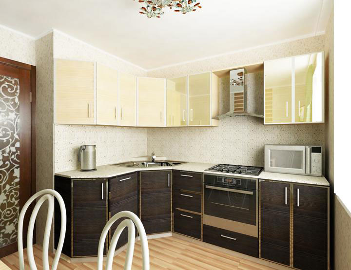 Дизайн кухни 9кв.м