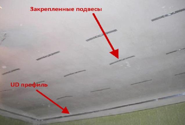 Разметка двухуровнего потолка из гипсокартона своими руками
