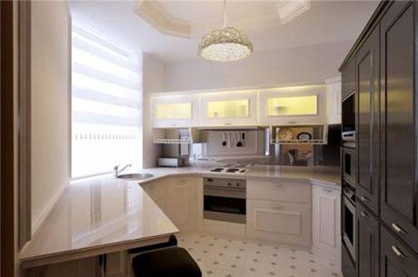 Оригинальный дизайн кухни в современном стиле 9 кв метров