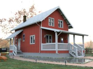 Проект каркасно-щитового дома с мансардой