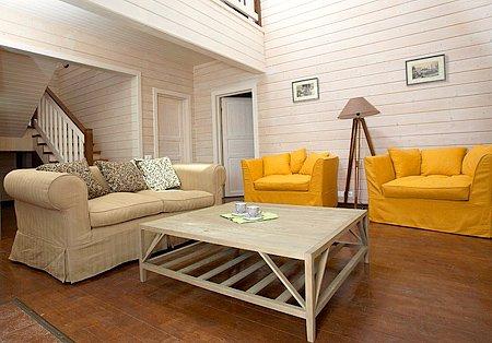 Пример внутренней отделки деревянного дома
