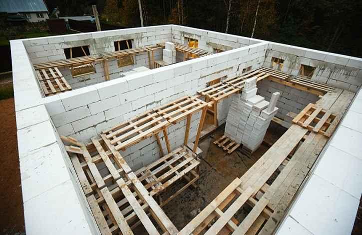 Стены и газобетонных блоков