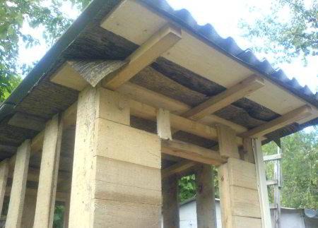 Крыша дачного туалета своими руками