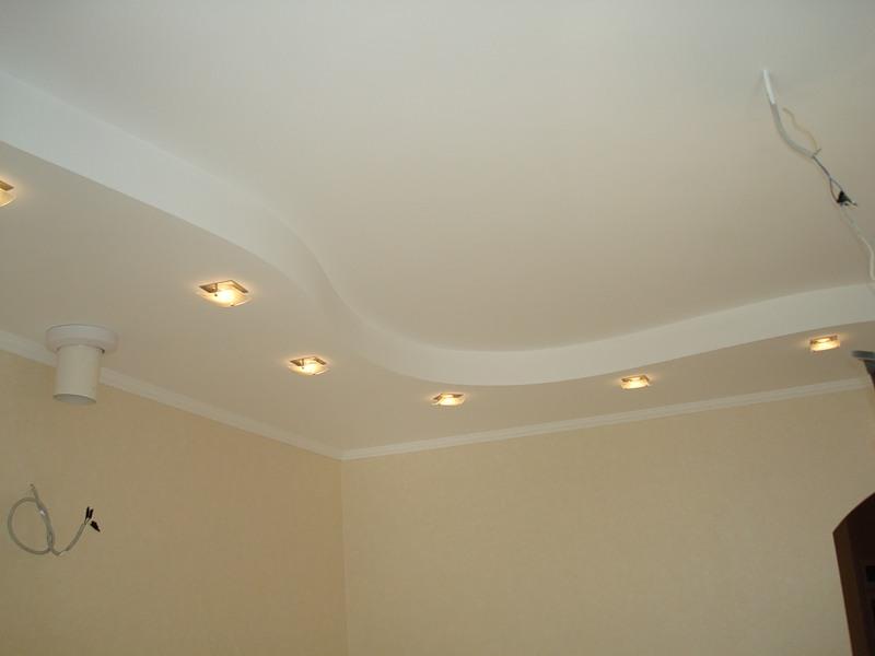 Двухуровневый потолок из гипсокартона своими руками фото
