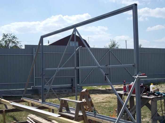 Откатные ворота своими руками чертежи схемы эскизы конструкция