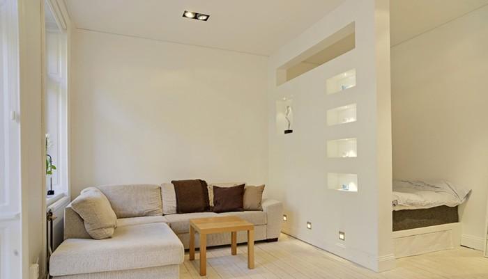 перегородки в комнате для зонирования пространства