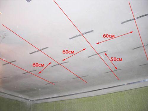 Разметка потолка под гипсокатрон