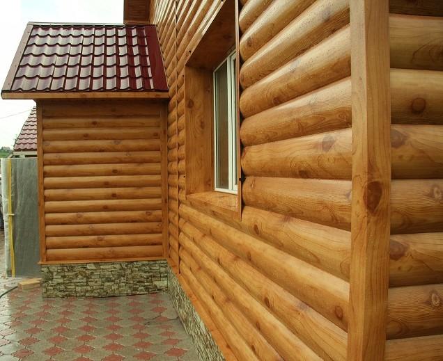 Обшивка фасада деревянного дома блок хаусом