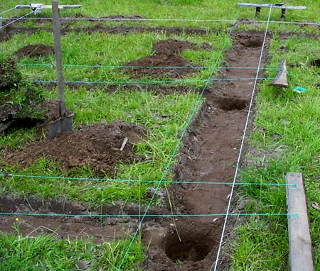 Подготовка участка под фундамент с ростверком