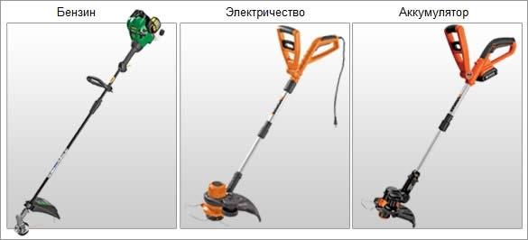 Типы триммеров для травы: электрический, бензиновый, аккумуляторный